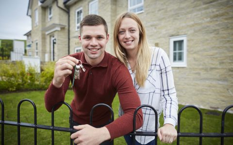 If being a first time buyer at Barratt Manchester site Calderbrook in Littleborough wasn't exciting enough Heather Leonard 28 her partner Liam Fairclough 26 got down on one knee to prepose as soon as they got hold of the door keys.  Pictured the happy couple just after she accepted